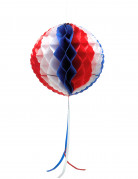 Suspension boule alvéolée tricolore 27 cm