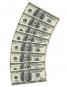 10 Serviettes en papier rectangulaires Dollar