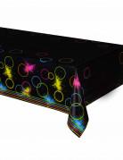 Nappe en plastique Fluo Party 140 x 260 cm