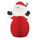 4 Mini décorations Père Noël 15 cm