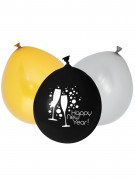 12 Ballons latex Happy New Year