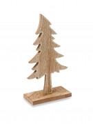 Sapin en bois à paillettes cuivrées 20 cm