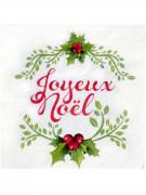 20 Serviettes en papier Joyeux Noël