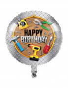 Ballon en aluminium Happy Birthday Bricoleur 45 cm