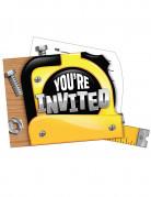 8 Cartes d'invitation avec enveloppes Bricoleur