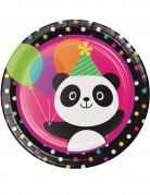 8 Assiettes en carton Panda Party