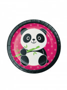 8 Petites assiettes en carton Panda Party