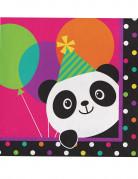 16 Serviettes en papier Panda Party