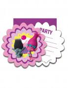 6 Cartes d'invitation + enveloppes Trolls™