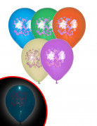 5 Ballons LED Hawaï