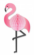 Suspension alvéolée Flamant rose 36 cm