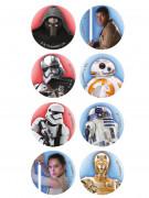 16 Mini disques en sucre Star Wars™ 3,4 cm
