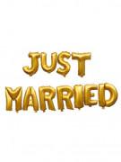 11 Ballons aluminium or Just married 40 cm