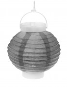Lanterne lumineuse grise 20 cm