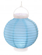 lanterne lumineuse bleu ciel 20 cm