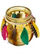 Photophore en verre jaune Gypsy 12 cm