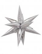 Ballon étoile 3D aluminium argent 70cm
