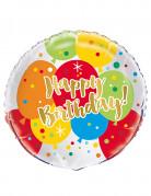 Ballon aluminium Happy Birthday Pop 45 cm
