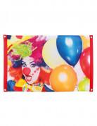 Drapeau Clown party 60 X 90 cm