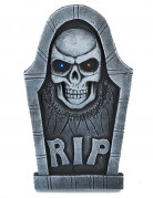 Décoration pierre tombale tête de mort lumineuse