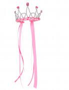 Couronne reine médiévale rose fille