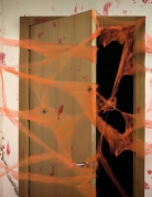 Toile d'araignée orange avec araignées 20 g Halloween