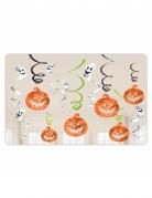 12 Décorations à suspendre citrouilles et fantômes Halloween