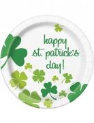 8 Assiettes Happy St Patrick's Day 23 cm