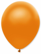 50 Ballons métallisés orange 30 cm