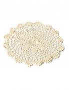 Napperon en crochet ivoire 20 cm