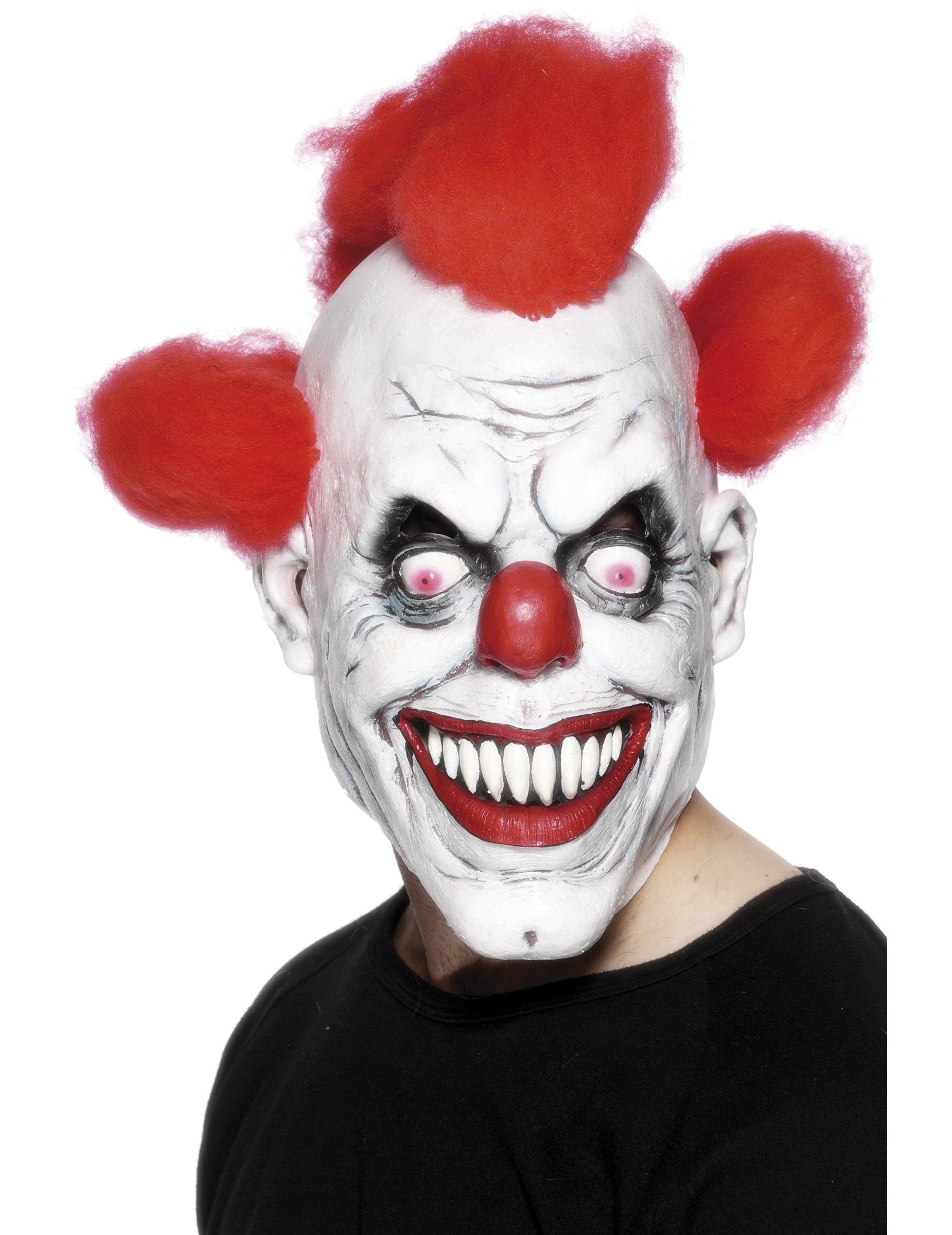 Masque Terrifiant De Clown Adulte Halloween Décoration Anniversaire Et Fêtes à Thème Sur Vegaoo Party