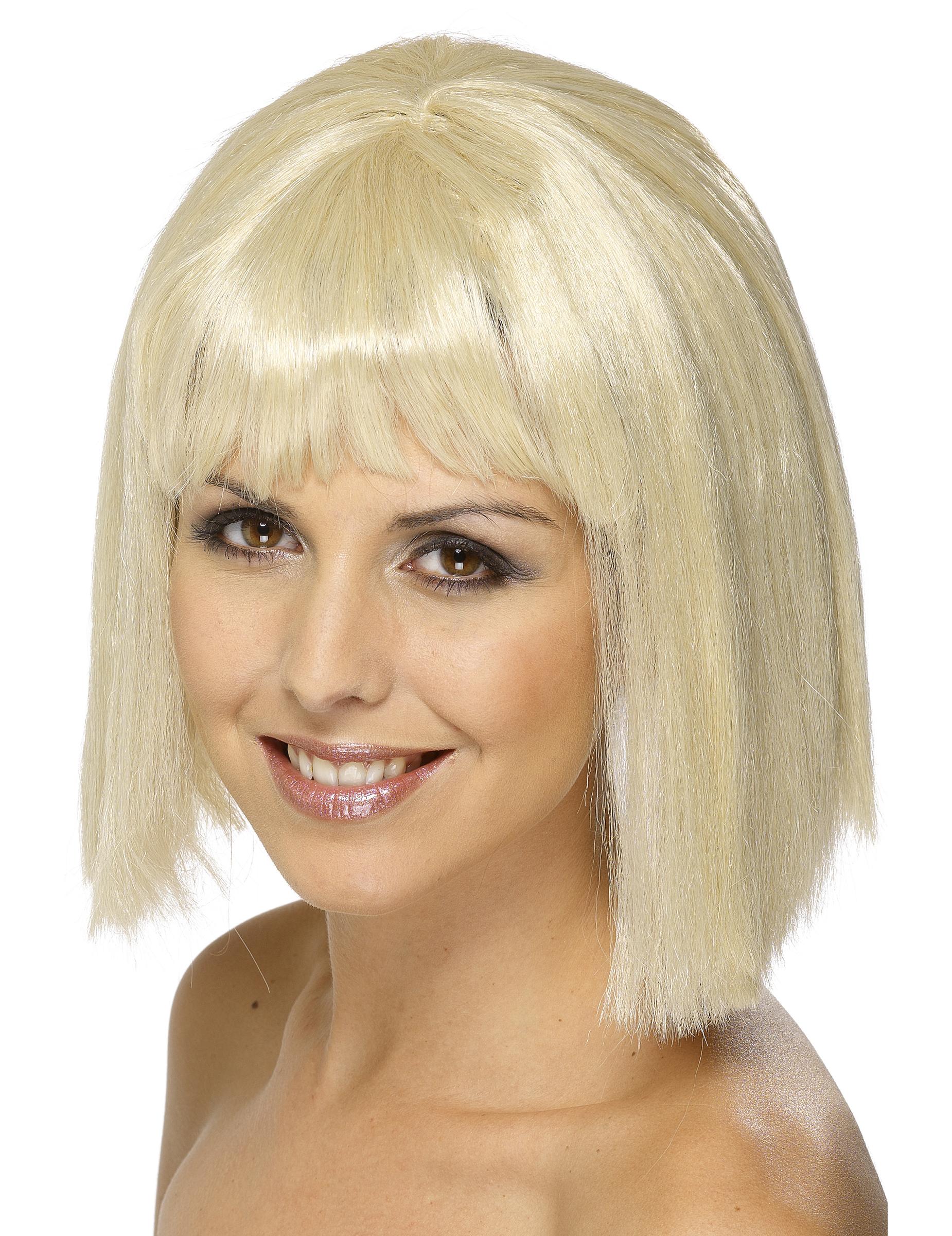 Perruque Blonde Avec Frange Femme Decoration Anniversaire Et Fetes A Theme Sur Vegaoo Party