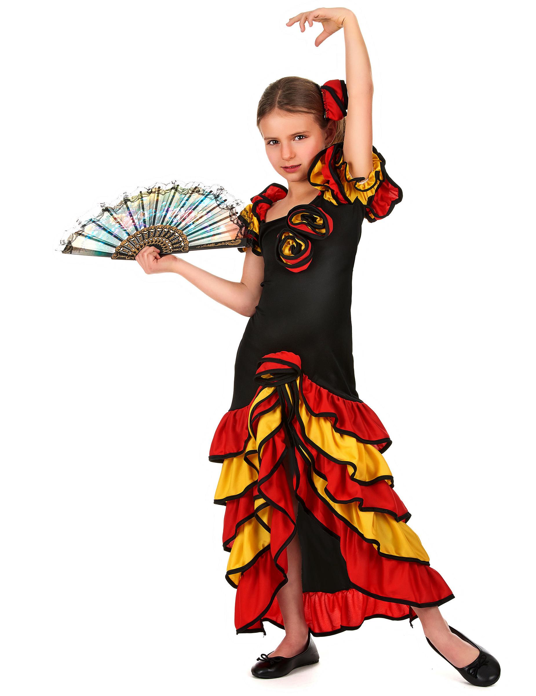 78fe055a18a75 Déguisement danseuse espagnole fille