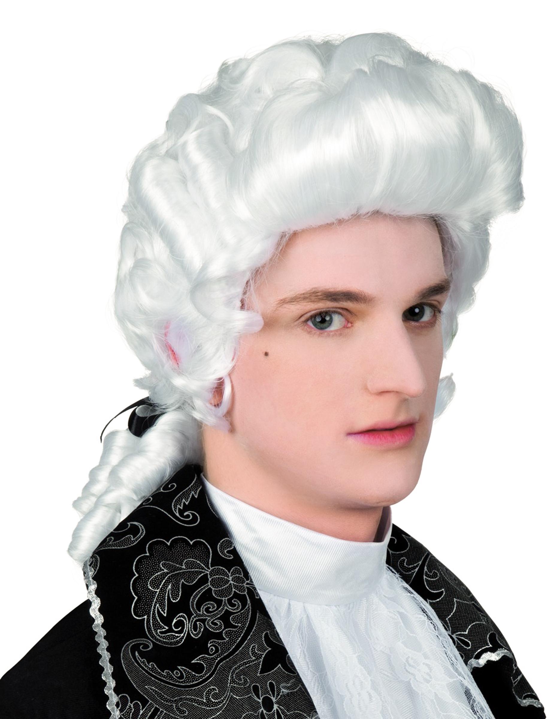 Perruque baroque homme, décoration anniversaire