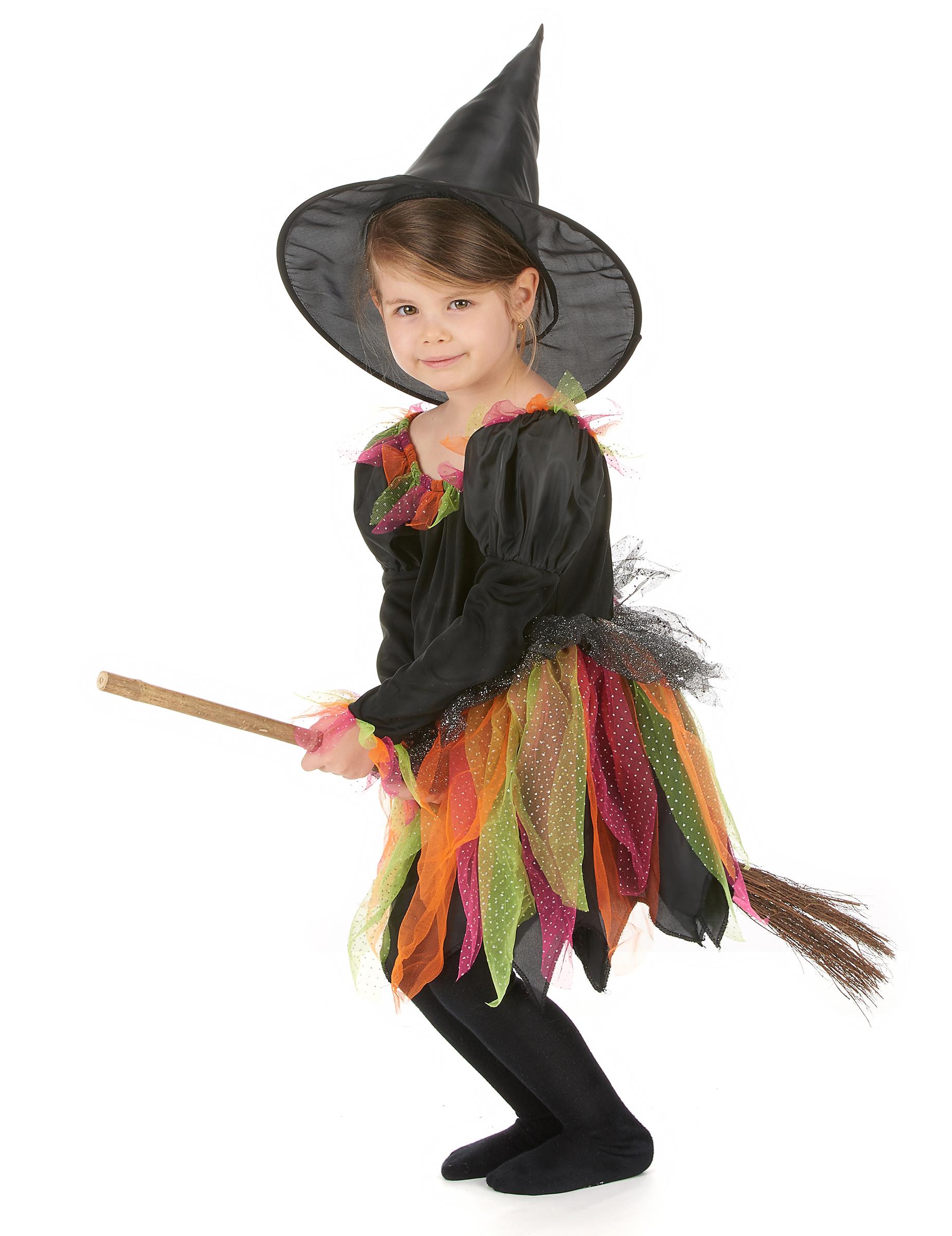Déguisement sorcière enfant Halloween, décoration anniversaire et ... f7ac029297b5