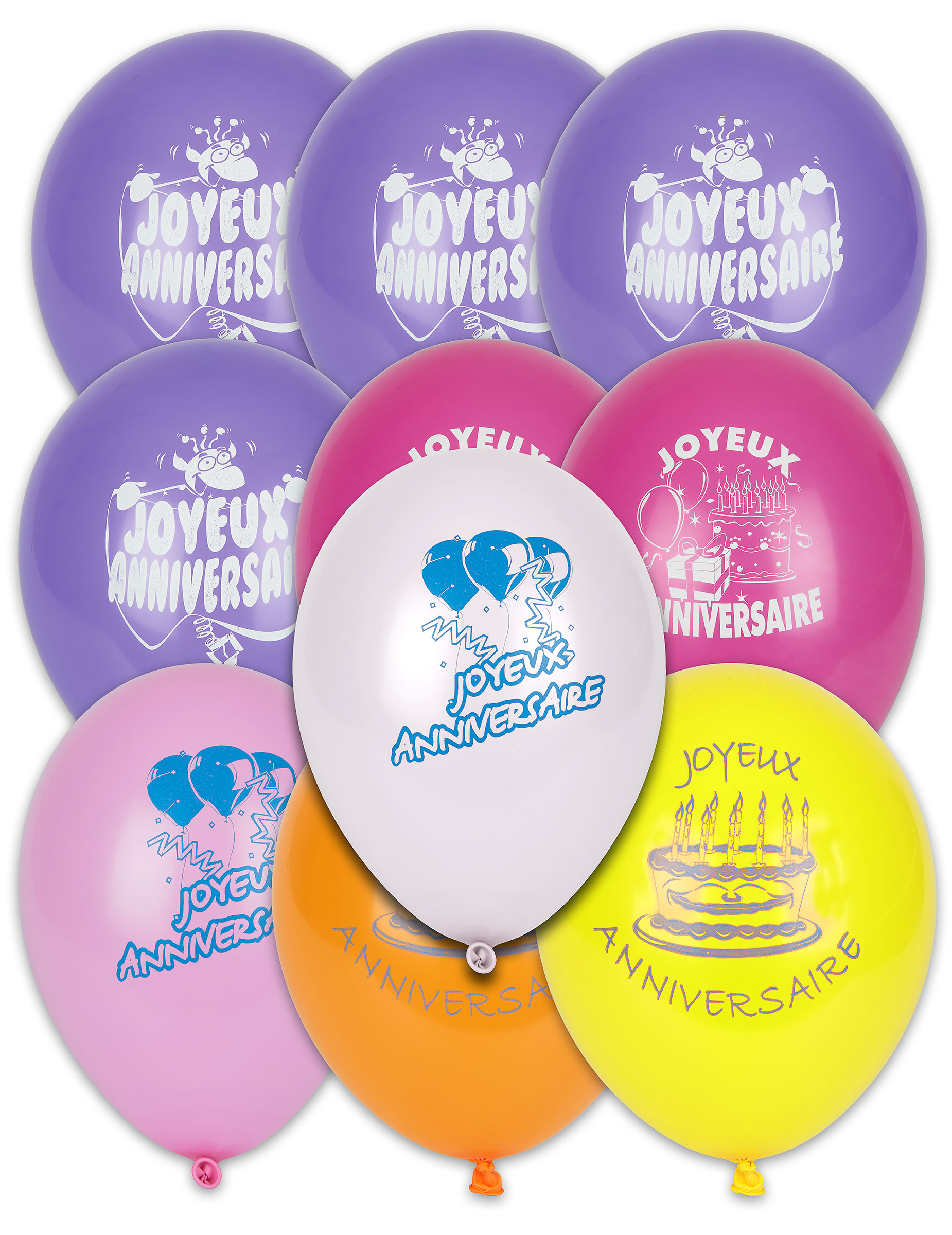 10 Ballons Joyeux Anniversaire Decoration Anniversaire Et Fetes A