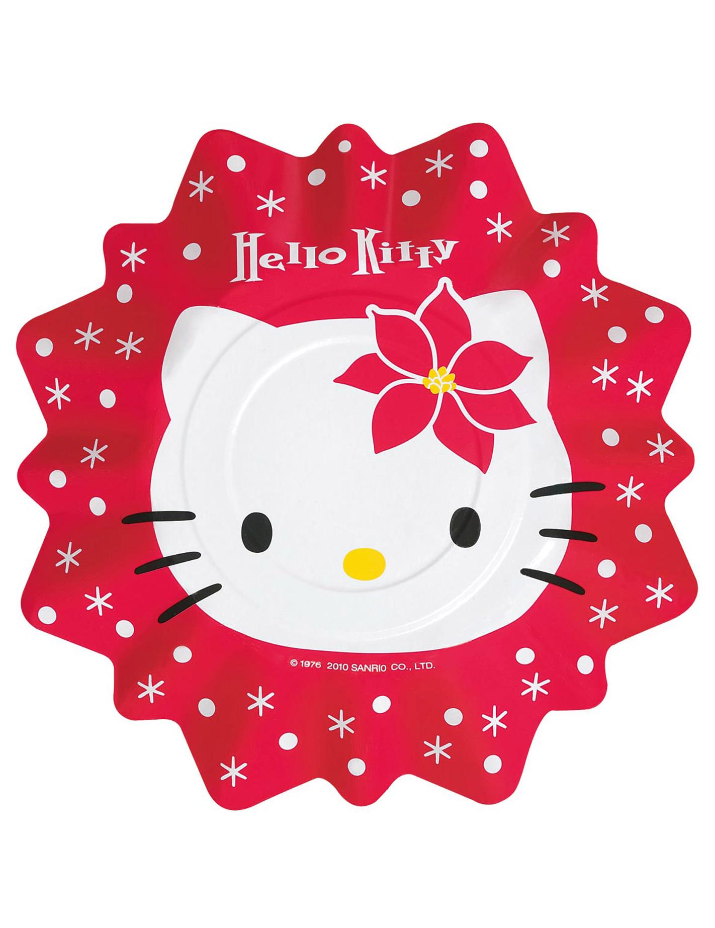 8 assiettes hello kitty no l 27cm d coration - Hello kitty noel ...