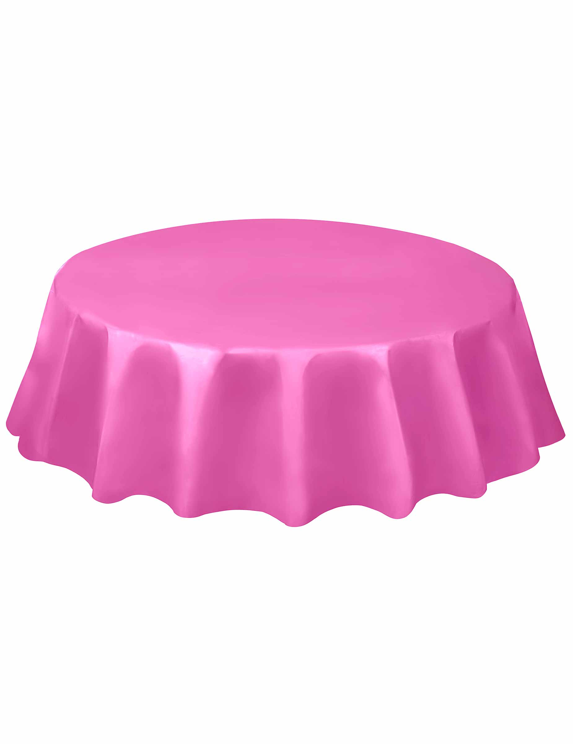 nappe ronde en plastique rose 213 cm d coration anniversaire et f tes th me sur vegaoo party. Black Bedroom Furniture Sets. Home Design Ideas