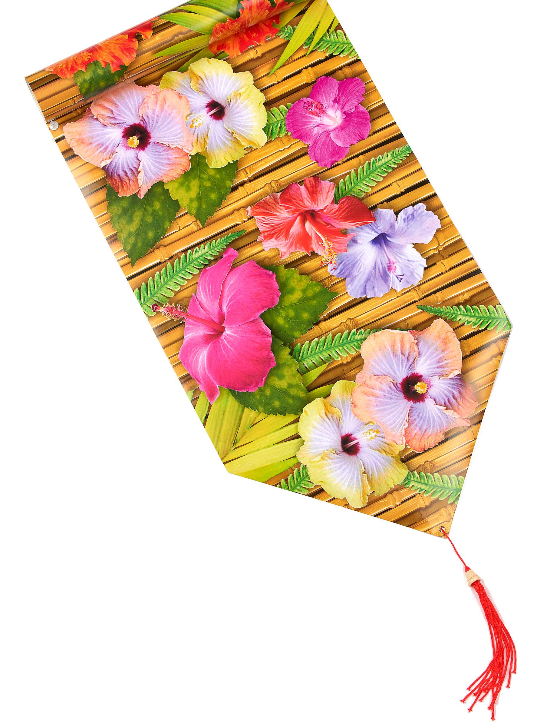 chemin de table fleur d'hibiscus hawaï 1.8 mètres, décoration