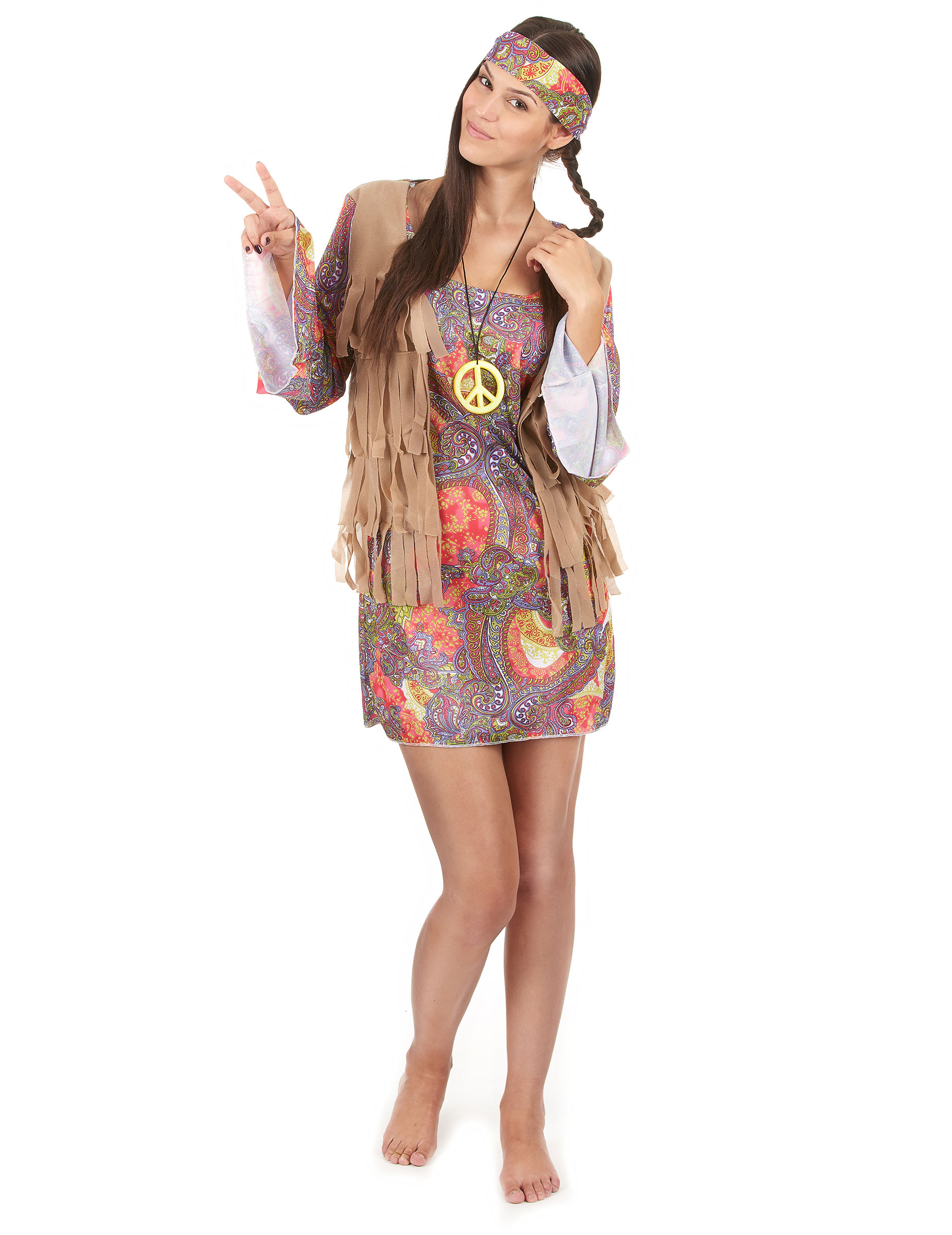 d guisement hippie femme d coration anniversaire et f tes th me sur vegaoo party. Black Bedroom Furniture Sets. Home Design Ideas