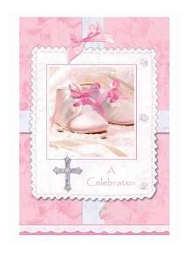 8 Cartes D Invitation Bapteme Fille Rose