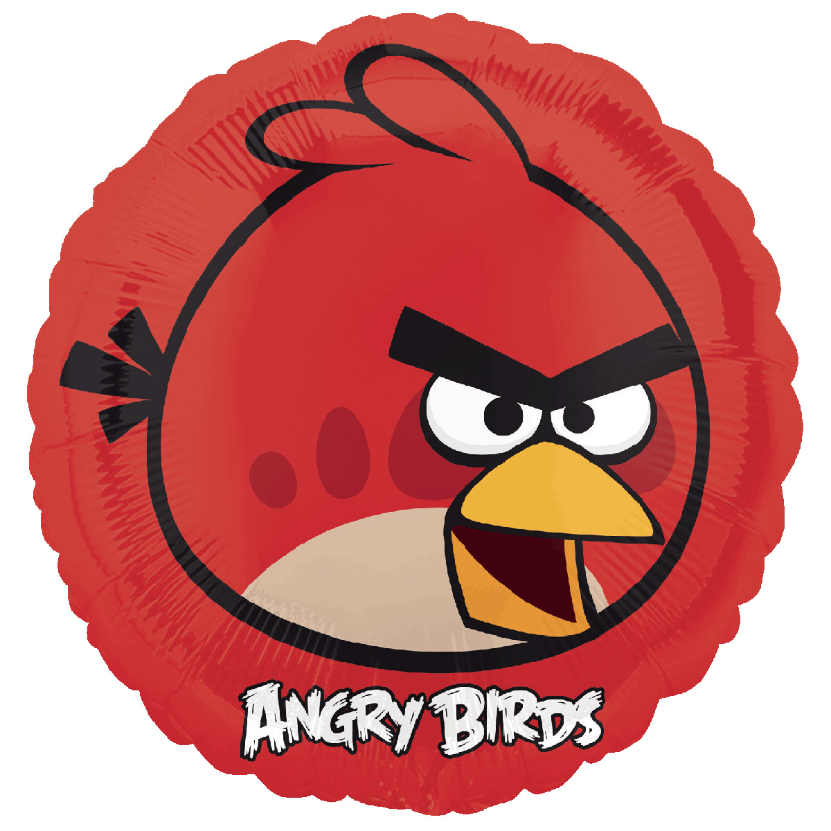 Ballon aluminium rouge angry birds d coration anniversaire et f tes th me sur vegaoo party - Angry birds rouge ...