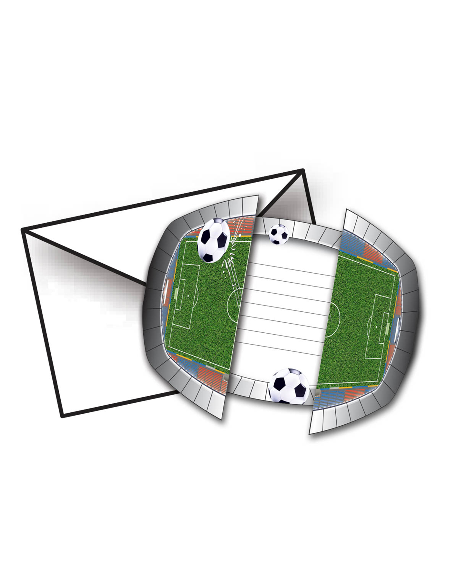 Personnalisé Football Fête D/'Anniversaire Invitations Avec Enveloppes