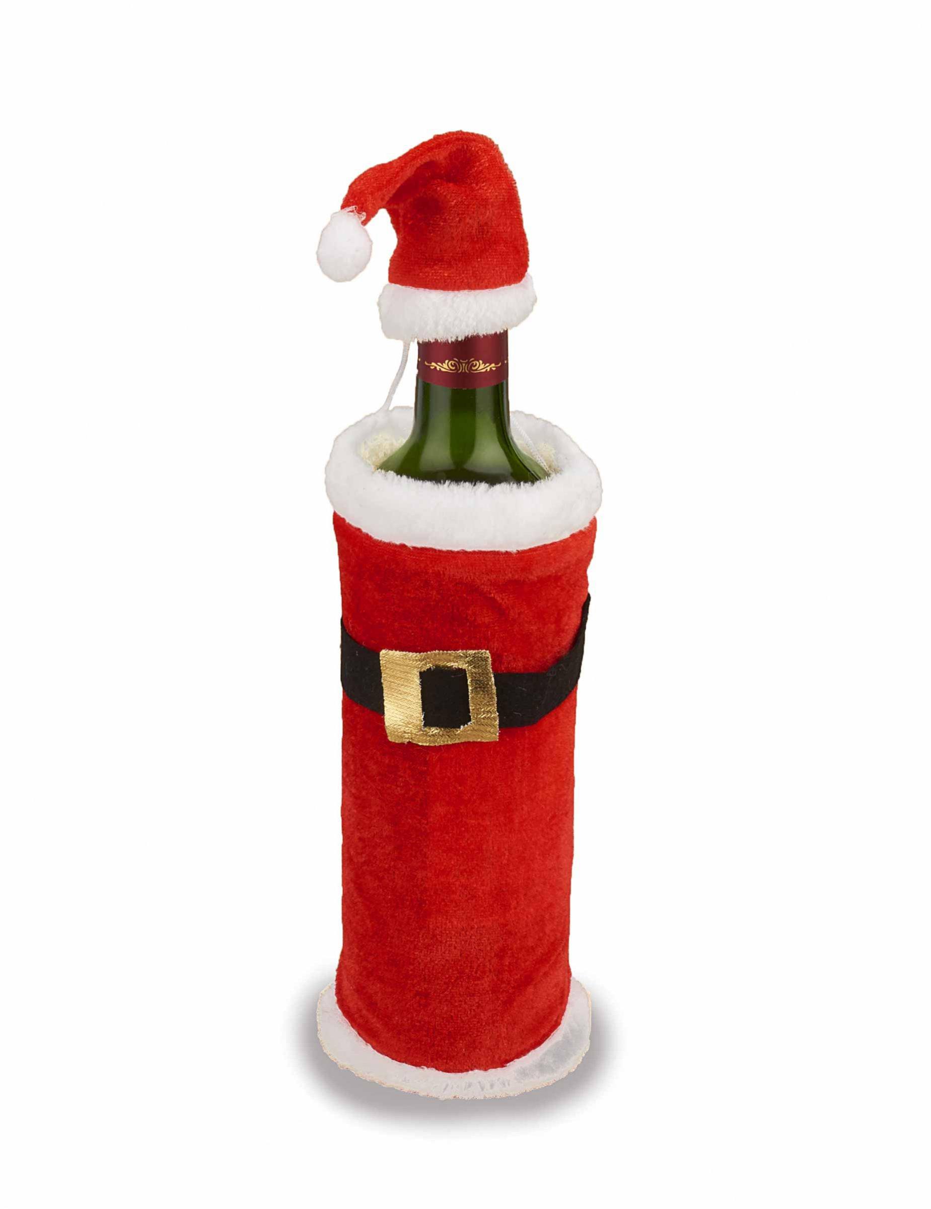 Geschenktüte Noël Père Noël Bouteilles Costume Porte-bouteille