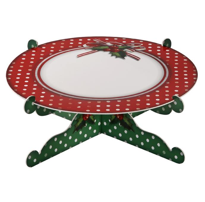 support g teau vert et rouge pois no l d coration anniversaire et f tes th me sur vegaoo. Black Bedroom Furniture Sets. Home Design Ideas