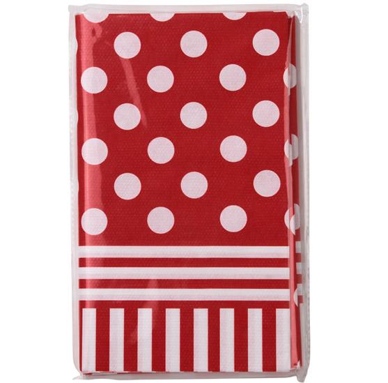nappe rouge et blanche 180 x 120 cm d coration anniversaire et f tes th me sur vegaoo party. Black Bedroom Furniture Sets. Home Design Ideas