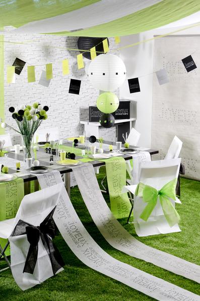 d coration murale kak mono gris anniversaire chic d coration anniversaire et f tes th me sur. Black Bedroom Furniture Sets. Home Design Ideas