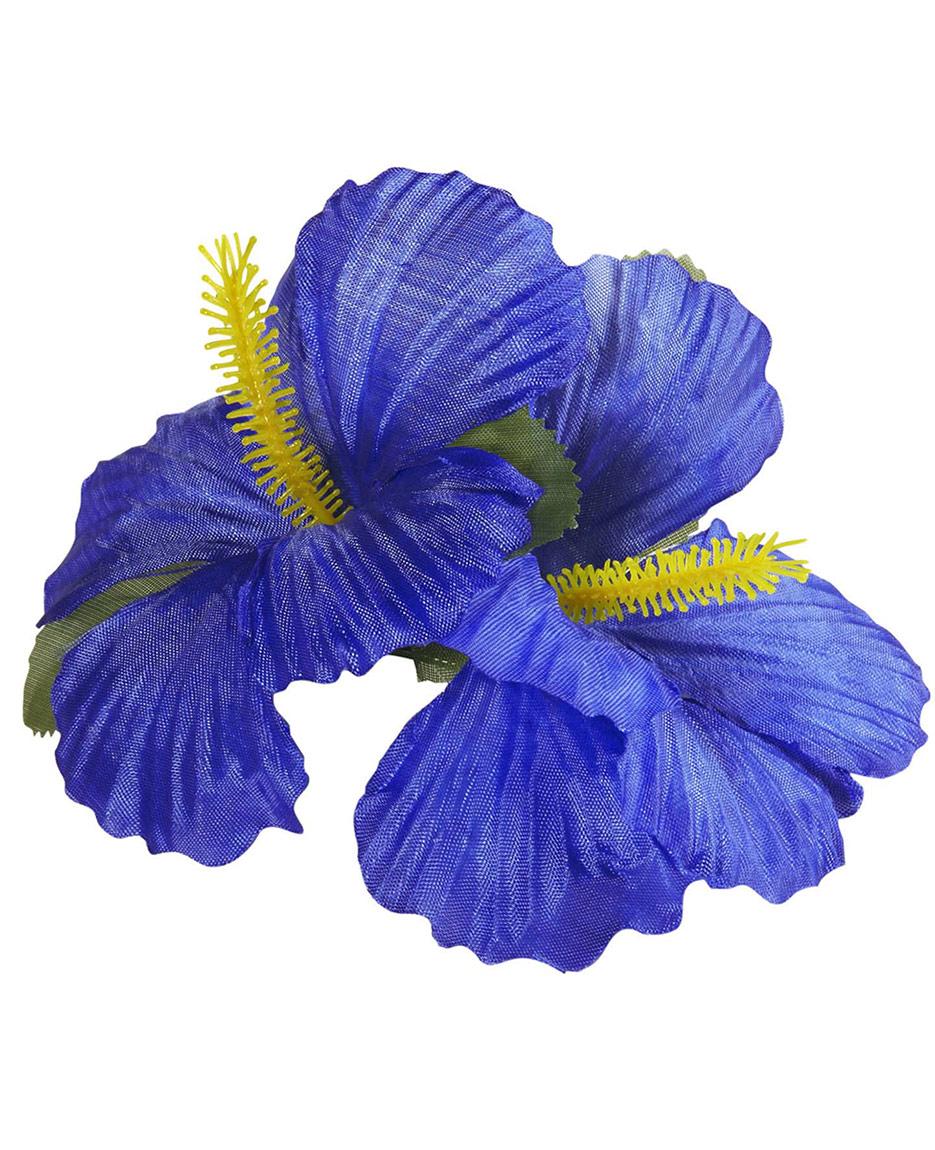 Barrette fleur bleu foncé, décoration anniversaire et fêtes à thème sur Vegaoo Party