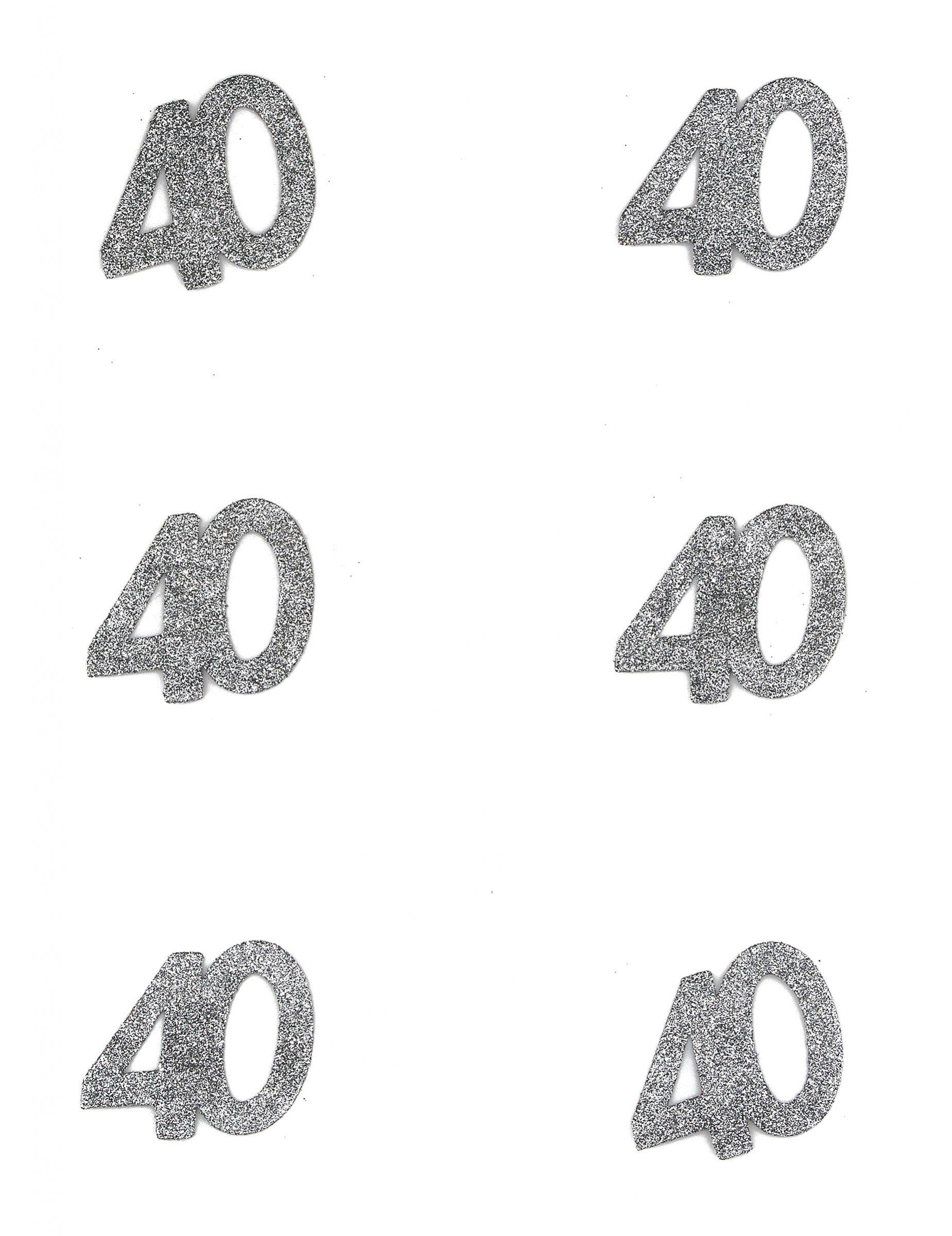 6 Confettis Anniversaire 40 Ans Decoration Anniversaire Et Fetes A