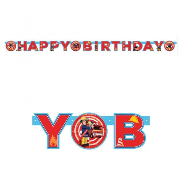 Guirlande happy birthday sam le pompier d coration - Decoration anniversaire sam le pompier ...